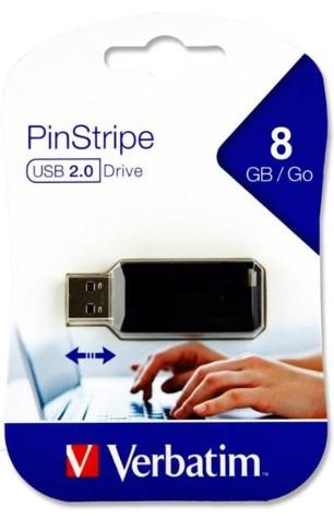 Verbatim Pinstripe Usb Drive - 8gb