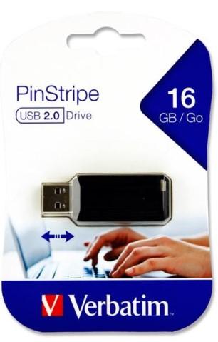 Verbatim Pinstripe Usb Drive - 16gb
