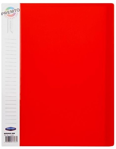 40 Pocket Display Book  Ketchup Red A4 Premto