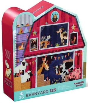 Bertoy 36 pc Shaped Puzzle/Barnyard 123