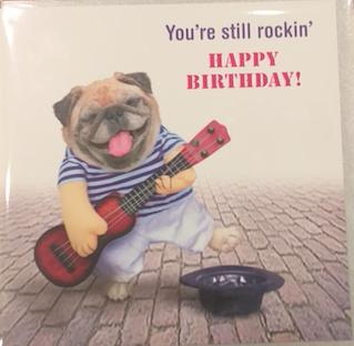 """YOU'RE STILL ROCKIN, HAPPY BIRTHDAY"" - Irish Made Card"