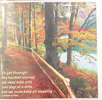 """""""ONE STEP AT A TIME"""" - Irish Made Card"""