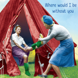 """""""WHERE WOULD I BE WITHOUT YOU?"""" - Irish Made Card"""
