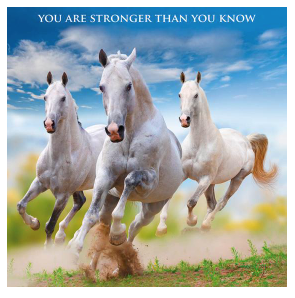 """""""YOU ARE STRONGER THAN YOU KNOW"""" - Irish Made Card"""