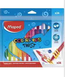 MAPED COLOR'PEPS - 24 TWISTABLE CRAYONS