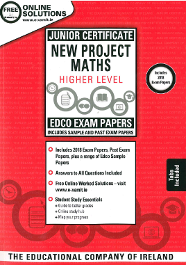 Maths JC HL Exam Papers 2019 (EDCO)