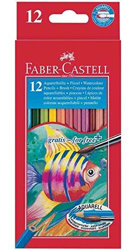 FABER CASTELL 12 WATERCOLOUR PENCILS