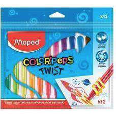 MAPED COLOR'PEPS - 12 TWISTABLE CRAYONS