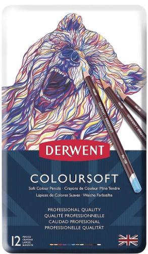 Derwent Colorsoft Pencil 12-Color Set