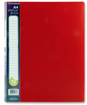 10 Pocket Display Book Red A4