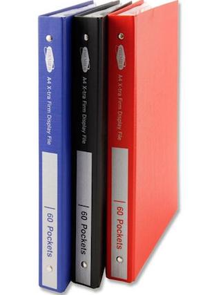 60 Pocket Display Book Hardback Assorted  Colours