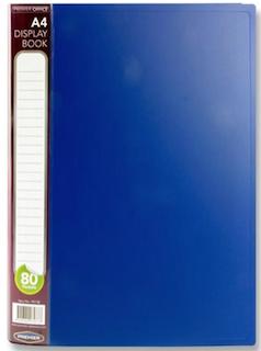 80 Pocket Display Book Blue A4 Premier