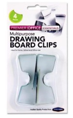 Drawing Board Clips set of 4