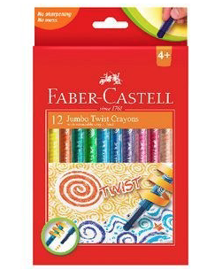 FABER CASTELL TWISTABLE WAX CRAYONS 12
