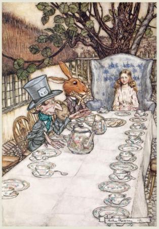 Arthur Rackham: Alice in Wonderland Tea Party