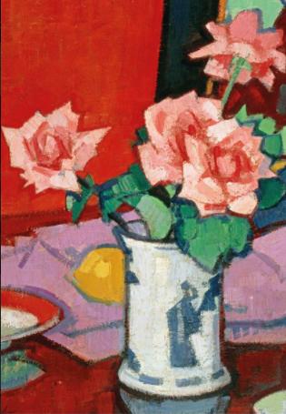 Samuel Peploe: Pink Roses, Chinese Vase1000 Piece  Jigsaw Puzzle