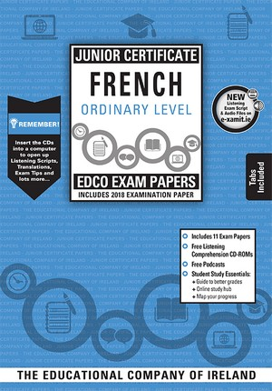 French JC OL Past Papers & Cd Rom 2018