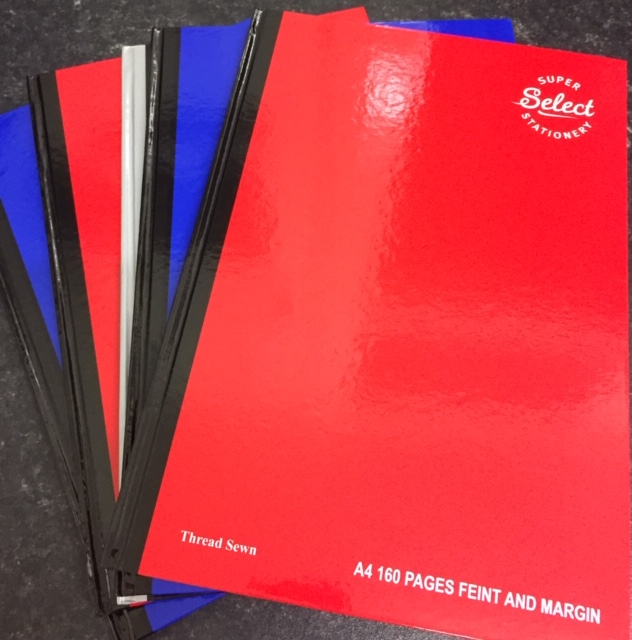 5x A4 160 Pages Hardback (5 Pack)
