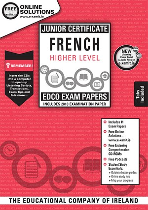 French JC HL Past Papers & Cd Rom 2018
