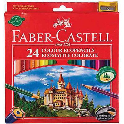 24 COLOURING PENCILS FABER-CASTELL
