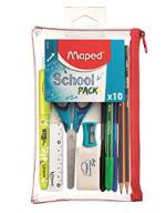 Maped Student Kit - School Pencil Case (10 Pieces): Transparent