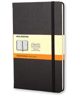 Moleskine Classic Notebook - Large Ruled Notebook, Hard Back - Black  (2)