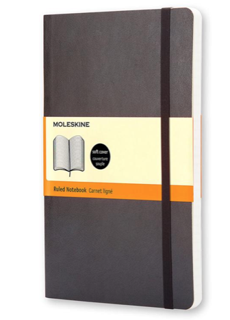 Moleskine Classic Plain Paper Notebook - Soft Cover and Elastic Closure Journal - Color Black