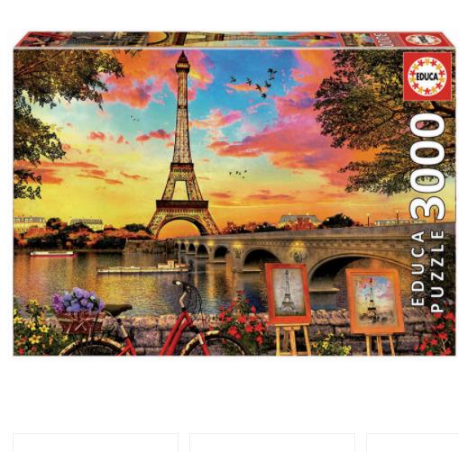 Sunset in Paris 3000 Jigsaw Puzzle