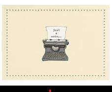 PP Notecard  Pack Typewriter