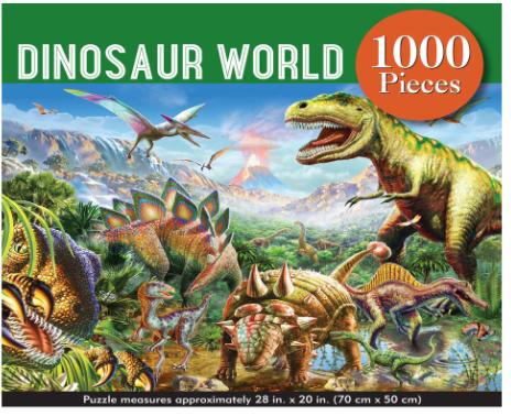 Dinosaur World 1,000 Piece Jigsaw Puzzle