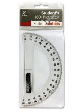 Student Solutions 12.9cm 180 Protractor