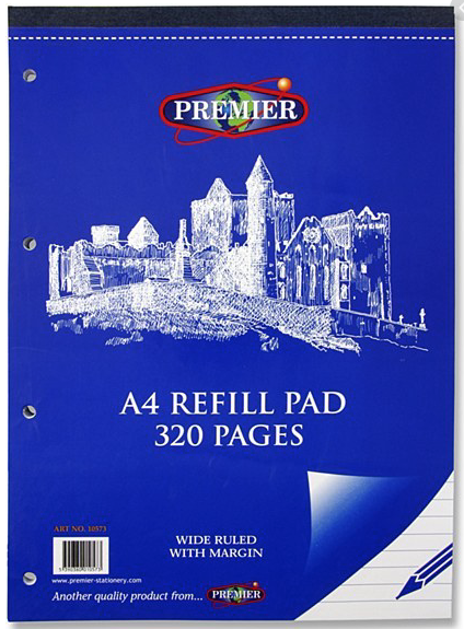 Refill Pad A4 320 Page Premier