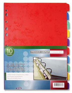Subject Dividers (10 Pack)