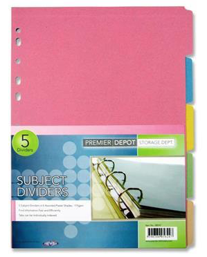 Subject Dividers (5 Pack)
