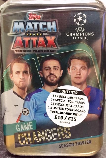 2020 Mega Tin Card List.Match Attax 2019 2020 Game Changers Champions League Mega Tin