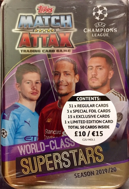 Mega Tin 2020 Card List.Match Attax Cards