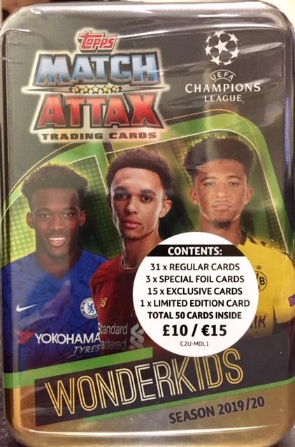 2020 Mega Tin Card List.Match Attax 2019 2020 Wonderkids Champions League Mega Tin