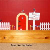The Irish Fairy Door White Picket Fence